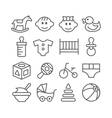 baline icons vector image