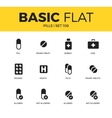 Basic set of pills icons vector image vector image