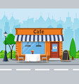 cafe shop exterior vector image