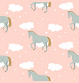 cartoon cute kid horse pattern pastel vector image vector image