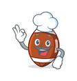 chef american football character cartoon vector image vector image