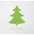 Christmas card with hand drawn christmas tree vector image vector image