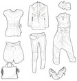 clothing skech vector image vector image