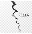 crack in surface rift in earth realistic fracture vector image vector image