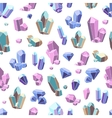 Crystal Minerals Seamless Pattern vector image vector image