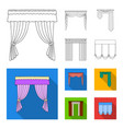different types of window curtainscurtains set vector image