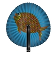 fan and fish vector image vector image