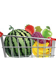 fruit in trolley vector image