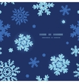 glitter snowflakes dark circle frame seamless vector image vector image