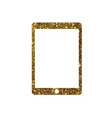 golden glitter flat tablet computer icon vector image vector image