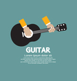 Guitar Playing vector image vector image