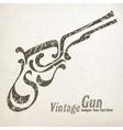Gun on white vector image vector image
