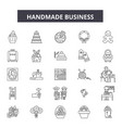 handmade business line icons signs set vector image vector image