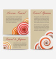 invitation cards with japanese umbrella set vector image vector image