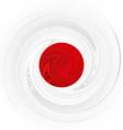 Japanese swirl flag vector image
