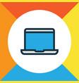 laptop colorful outline symbol premium quality vector image vector image