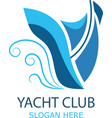 logo sailboat vector image