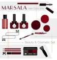 Make up design elements vector image