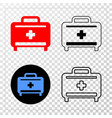 medical baggage eps icon with contour vector image