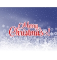 Merry Christmas letters covered with snow on snowy vector image