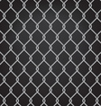 metal chain link fence seamless on black vector image