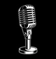 microphone on black background vector image vector image