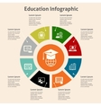 Online education infographic vector image