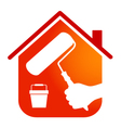 painting houses business design vector image vector image