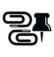 paper clip icon simple black style vector image