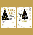 party poster merry christmas holiday club vector image vector image