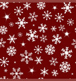 pattern with snow vector image