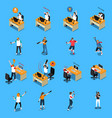 people in cyber sport isometric set vector image vector image