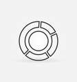 pie chart linear concept minimal icon vector image