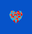 polygonal heart of triangles vector image
