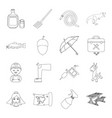 profession medicine travel and other web icon in vector image vector image