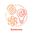 quaternary red concept icon knowledge sector idea vector image vector image