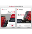 red abstract infographic annual report brochure vector image