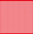 red tablecloths patterns on the background vector image vector image