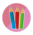 school supplies icon vector image vector image