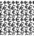 Seamless pattern hand drawn sketch icons currency vector image