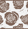 seamless pattern with big flowers vector image