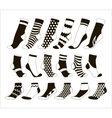 Set icon of colored socks vector image
