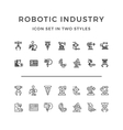 Set icons of robotic industry vector image vector image