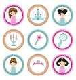 set of tags with princess theme set of tags with vector image vector image