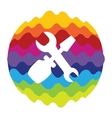 Setting Rainbow Color Icon for Mobile Applications vector image
