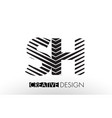 sh s h lines letter design with creative elegant vector image vector image