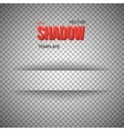 Shadow for Banner Realistic Shadow vector image vector image