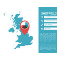 shieffield map infographic vector image vector image