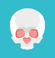 skull love nose heart valentines day vector image