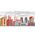 smog pollution industrial factory with pipes vector image